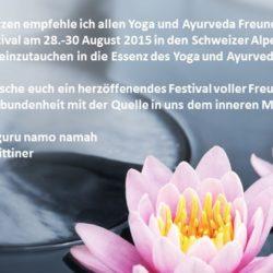 Yoga und Ayurveda Festival Remo Rittiner