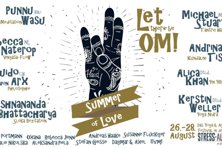 Yoga Festival Summer of Love mit internationalen Lehrern
