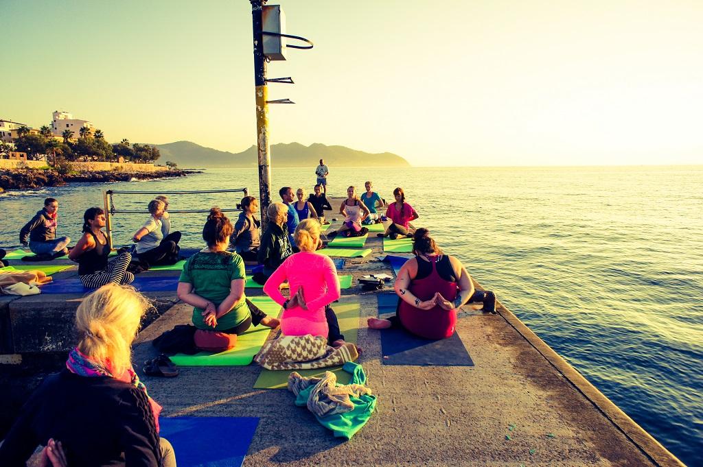 Yoga Sonnenaufgang Mallorca
