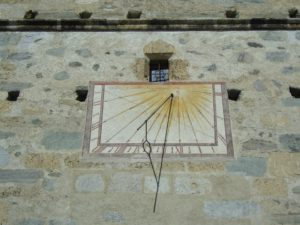 Klosterferien in Müstair: Sonnenuhr