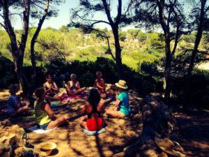 Meditieren bei den Yogaferien