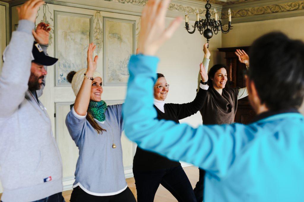 Yoga im Kloster zur Ruhe kommen