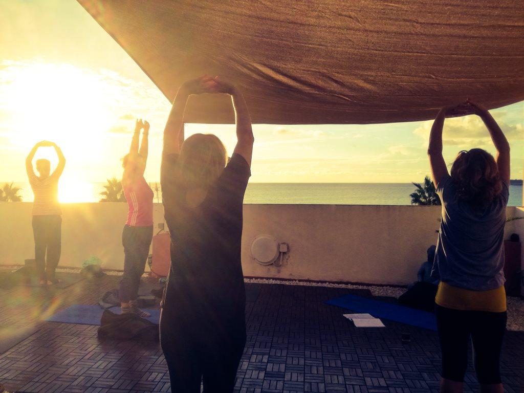 Yoga direkt am Meer bei den Yogaferien