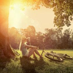 Auszeit in der Natur um Ruhe zu finden