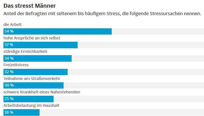 Was Männer stresst, Studie der TEchniker Krankenkasse in Deutschland