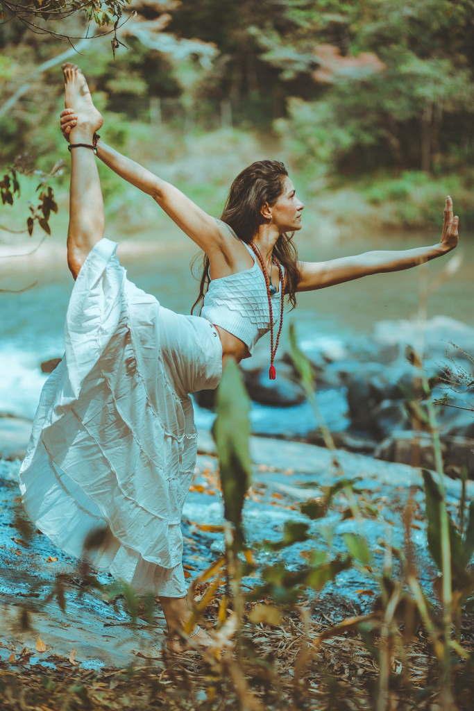 Yogaübung zum Ausgleich