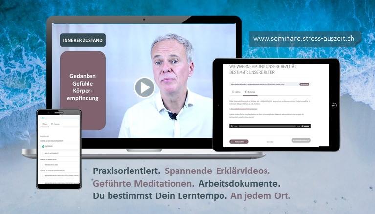 Online Kurse werden so konzipiert, dass sie sowohl auf Laptop, Tablet und Mobiltelefon abgerufen werden können