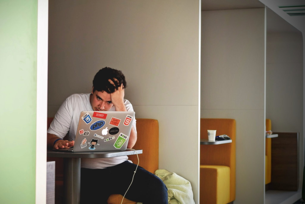 Computerarbeit verursacht Stress