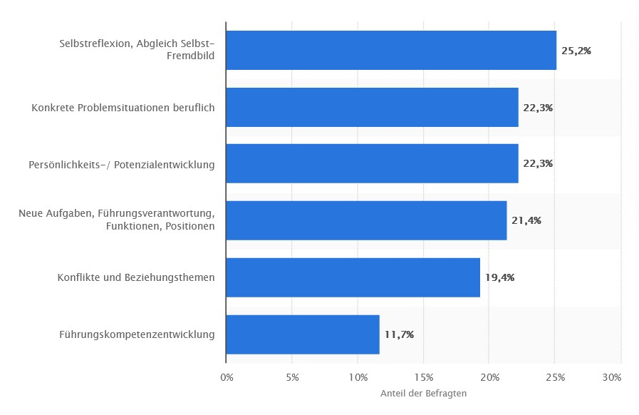 Befragung von Business Coaching-Klienten zur den Top-Coaching Themen